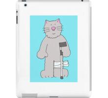 Cat get well soon, recovery from knee surgery. iPad Case/Skin
