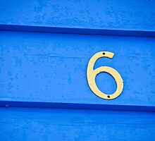 Blue six - Brighton Beach Boxes - Australia by Norman Repacholi