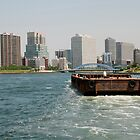 Wooden Barge in Tokyo Waters by jojobob