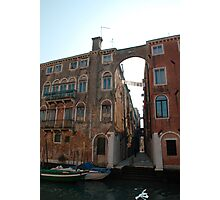 Arched Backstreet, Venice Photographic Print