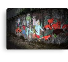 The cruel chase Canvas Print