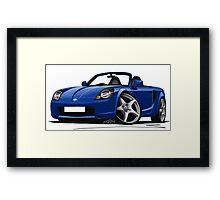 Toyota MR2 (Mk3) Blue Framed Print