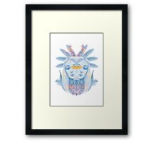 Feather princess has two sides Framed Print