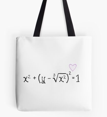 Math heart (white) Tote Bag