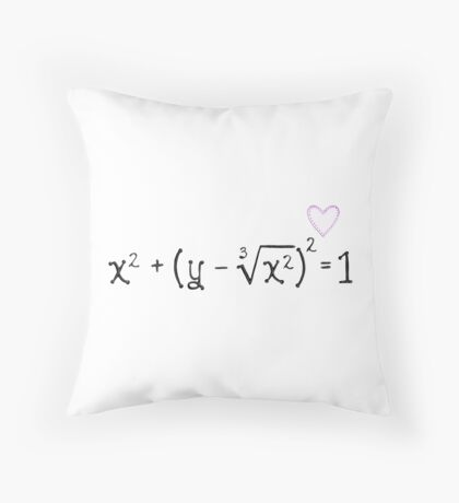 Math heart (white) Throw Pillow