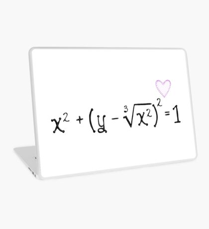 Math heart (white) Laptop Skin