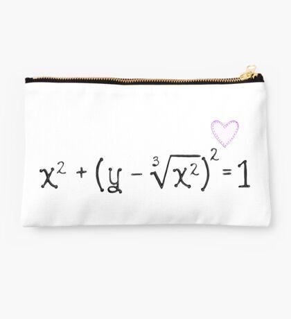 Math heart (white) Studio Pouch