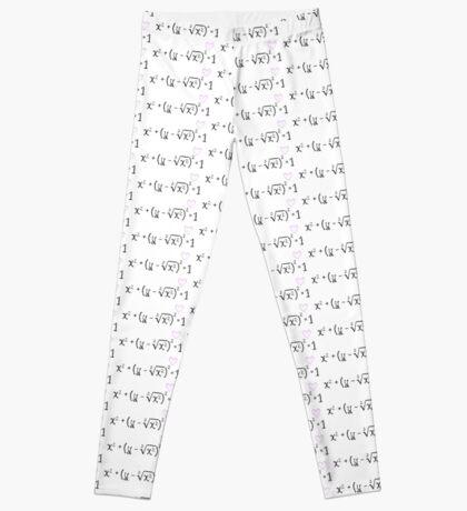 Math heart (white) Leggings
