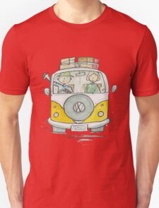 VW Camper Van and Happy Campers T-Shirt