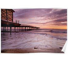"""Early Tide, Saltburn-by-the-Sea"" Poster"