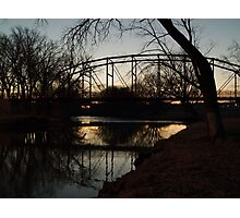 Crossing the Big Sioux River Photographic Print