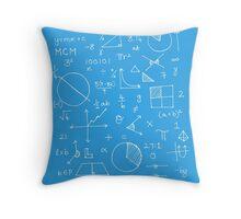 Math formulae (blue) Throw Pillow
