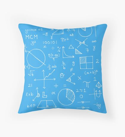 Math formulae (blue) Throw Pillow