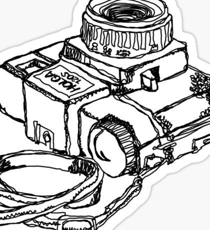 Holga 120 Plastic Toy Medium Format Camera Sticker
