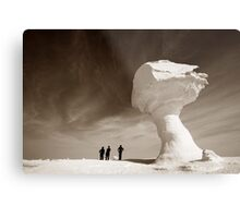 Silhouettes and Rock Formations Metal Print