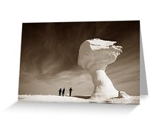 Silhouettes and Rock Formations Greeting Card