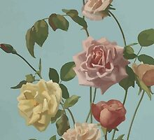 Vintage Tea Rose and Blush Roses by taiche