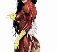 Spiderwoman by mikerenzine