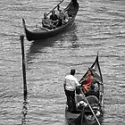 Turn in gondola on the Grand Canal of Venice by Luciano Fortini