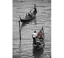 Turn in gondola on the Grand Canal of Venice Photographic Print