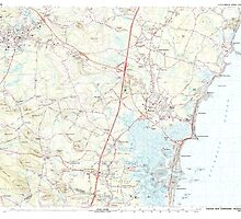 USGS TOPO Map New Hampshire NH Exeter 329889 1985 25000 by wetdryvac