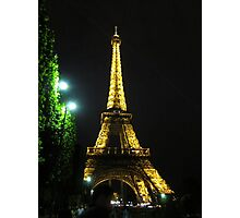 Eifel Tower - Night Photographic Print