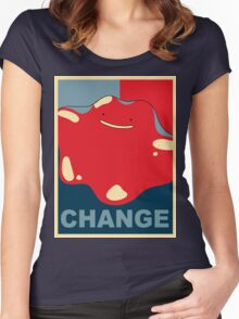 Ditto Pokemon - Change Women's Fitted Scoop T-Shirt