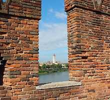 View Toward Basilica di San Zeno in Verona by kirilart