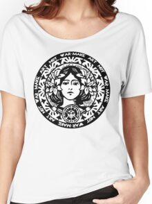 MAKE ART NOT WAR Women's Relaxed Fit T-Shirt