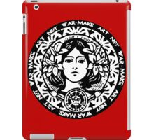MAKE ART NOT WAR iPad Case/Skin