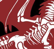 Black Background, Skeleton Dragon Design, Bag of Bones Dragon Sticker