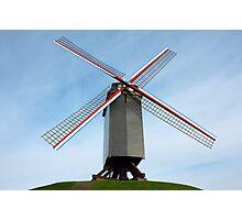 Windmill in Bruges Belgium Photographic Print