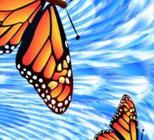 Butterflies in a Blue Sky Sticker