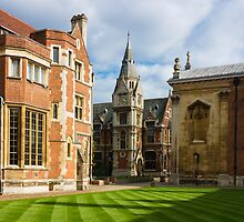Pembroke College in Cambridge by kirilart