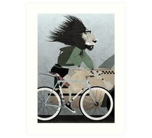 Alleycat Race Art Print
