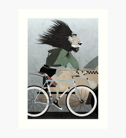 Alleycat Race Art Print
