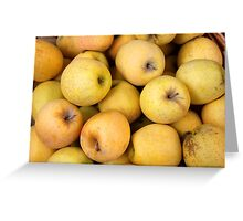Golden Apples in a Basket Greeting Card