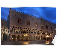 Doges Palace in Venice at The First Morning Light Poster