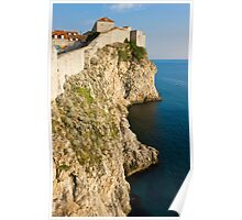 Dubrovnik view of the old city wall and the Adriatic Sea Poster