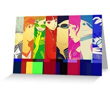 Persona 4 Investigation Team Greeting Card