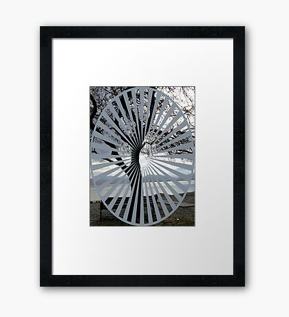 rest by the shore Framed Print