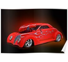 1939 Chevy w/Hood UP Poster