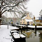 Thames Lock, Winter by Rachael Talibart