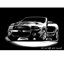 2011 Ford Mustang Shelby GT 500 Convertable Photographic Print