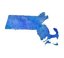 Massachusetts State Watercolor Photographic Print