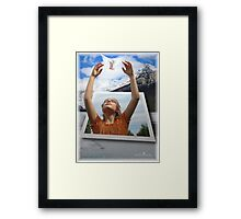 The air I breathe Framed Print