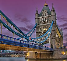 Tower Bridge From Below - HDR by Colin J Williams Photography