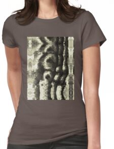 Etching Abstract Womens Fitted T-Shirt