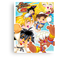 Street Fighter 25 Anniversary 2 Canvas Print