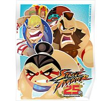 Street Fighter 25 Anniversary 3 Poster